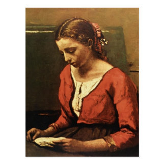 Camille Corot- Girl Reading Briefkaart