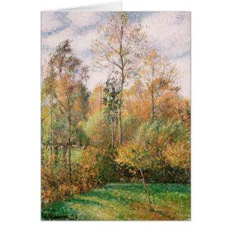 Camille Pissarro - de Herfst, Populieren, Eragny Kaart