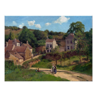 Camille Pissarro de Kluis in Pontoise Poster