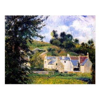 Camille Pissarro- Houses van l'Hermitage, Pontoise Briefkaart