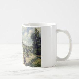 Camille Pissarro - Landschap dichtbij Pontoise Koffiemok