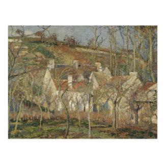 Camille Pissarro - Rode Daken, Hoek van een Dorp Briefkaart