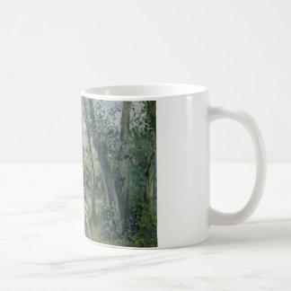 Camille Pissarro - Zonlicht op de Weg, Pontoise Koffiemok