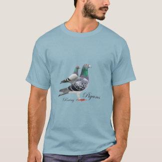 Camiseta con dúo de palomas mensajeras t shirt