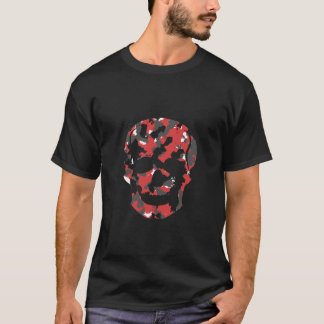 Camo Skull Shirt Red Black