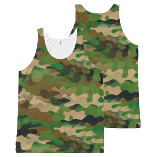 Camoflage-stijl Unisex-Tanktop All-Over-Print Tank Top