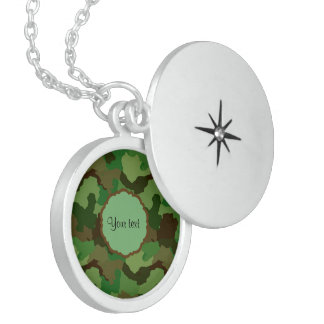 Camouflage Locket Ketting