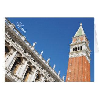 Campanile toren in Venetië, Italië Kaart