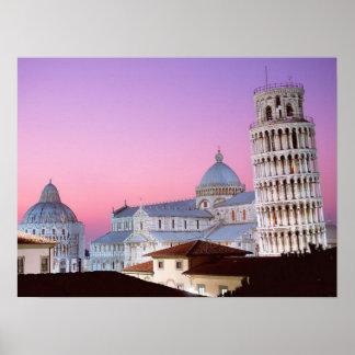 Campo het Poster van Miracoli Pisa Italië van dei
