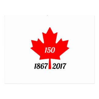 Canada 150 in de esdoornblad van 2017 briefkaart