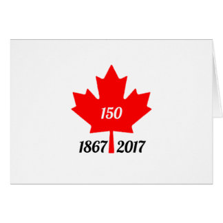 Canada 150 in de esdoornblad van 2017 kaart