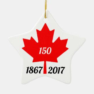 Canada 150 in de esdoornblad van 2017 keramisch ster ornament