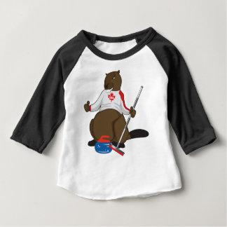 Canada 150 in de Krullende Leiding van de Bever Baby T Shirts