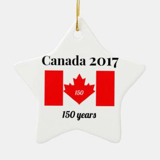 Canada 150 in de Vlag van het Hart van 2017 Keramisch Ster Ornament