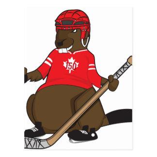 Canada 150 in het Hockey van de Bever van 2017 Briefkaart