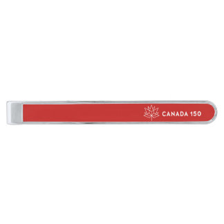 Canada 150 Officieel Logo - Rood en Wit Verzilverde Dasspeld