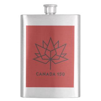 Canada 150 Officieel Logo - Rood en Zwarte Heupfles