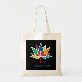 Canada 150 Officieel Veelkleurig en Zwart Logo - Draagtas