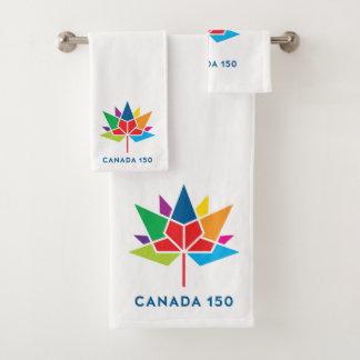 Canada 150 Officieel Veelkleurig Logo - Bad Handdoek