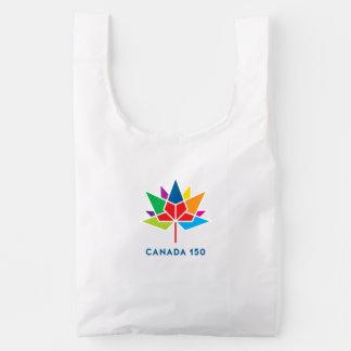 Canada 150 Officieel Veelkleurig Logo - Herbruikbare Tas