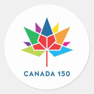 Canada 150 Officieel Veelkleurig Logo - Ronde Sticker
