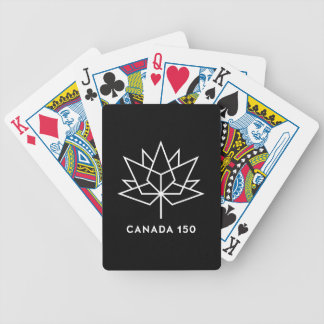 Canada 150 Officieel Zwart-wit Logo - Bicycle Speelkaarten