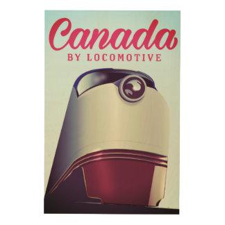 Canada door het voortbewegingsposter van de jaren hout afdruk