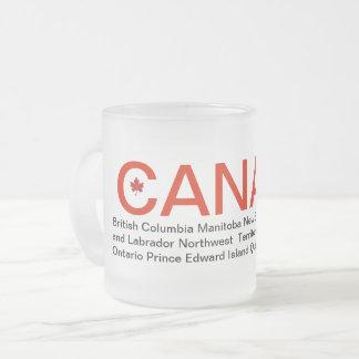 Canada en provinciesmok matglas koffiemok