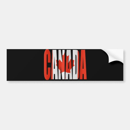 Canada + Flag Bumpersticker
