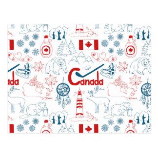 Canada | Patroon van Symbolen Briefkaart