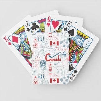 Canada | Patroon van Symbolen Poker Kaarten