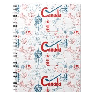 Canada | Patroon van Symbolen Ringband Notitieboek