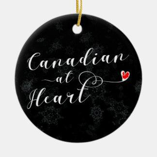 Canadees bij Hart, het Ornament van de Kerstboom