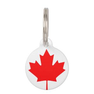 Canadees het huisdierenlabel van de vlagdouane huisdierpenning