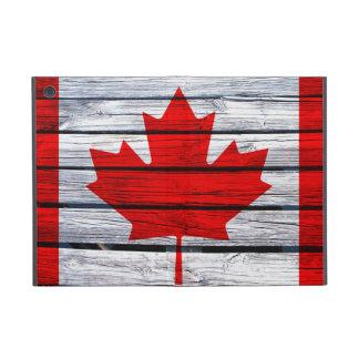 Canadese die Vlag op Rustiek Hout wordt geschilder iPad Mini Hoesje