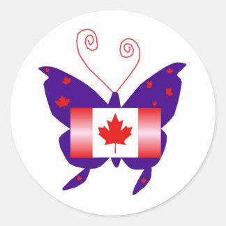 Canadese Diva Vlinder Ronde Stickers