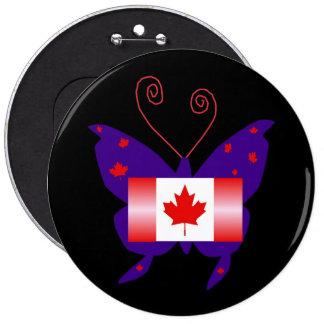 Canadese Diva Vlinder Speldbuttons