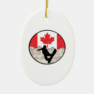 Canadese Pensionairs Keramisch Ovaal Ornament