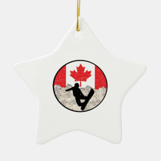 Canadese Pensionairs Keramisch Ster Ornament