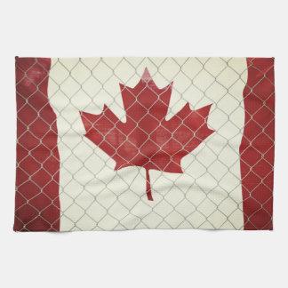 Canadese Vlag. De Omheining van de Verbinding van Theedoek