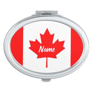 Canadese vlag van Canada gepersonaliseerde naam Makeup Spiegeltje