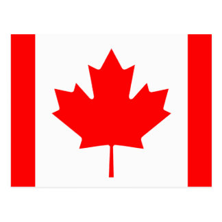 Canadese vlag van de douanebriefkaarten van Canada Briefkaart