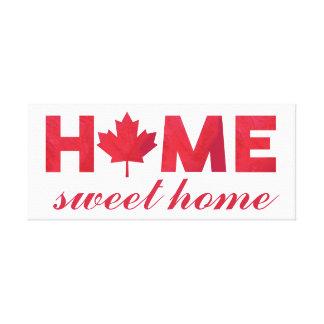 Canadese Vlag van het Huis van het huis de Zoete Canvas Afdruk