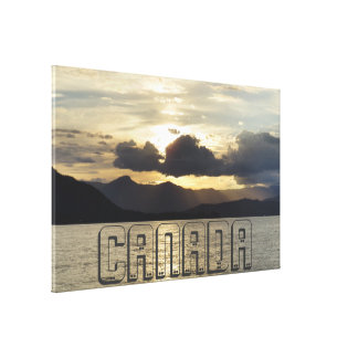Canadese Zonsondergang Canvas Afdruk