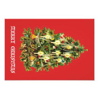Candlelit Kerstboom siert Slinger Fotoafdruk