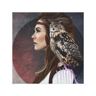 "Caneva ""Lady Owl "" Canvas Print"