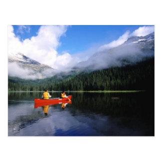 Canoeing op de Internationale Lijn Selkirk Briefkaart