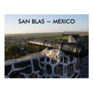 Canons bij San Blas Mexico Briefkaart