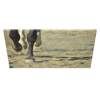 CANTERING LANGS de Druk van Canvas 30 x 18