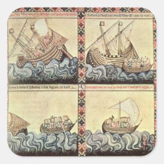 Cantiga 33, pagina van 'Cantigas DE Santa Maria Vierkante Sticker